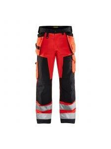 High Vis Trouser Without Holster Pockets 1566 High Vis Rood/Zwart - Blåkläder