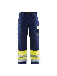 High Vis Trousers 1584 High Vis Geel/Marine - Blåkläder