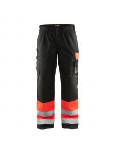 High Vis Trousers 1584 High Vis Rood/Zwart - Blåkläder