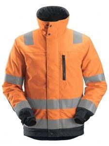 Snickers 1130 AllroundWork, High-Vis 37.5® Isolerend Jacket, Class 3 - High Vis Orange/Steel Grey