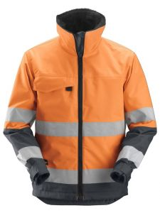 Snickers 1138 Core High-Vis Insulating Jacket, Class 3 - High Vis Yellow/Steel Grey