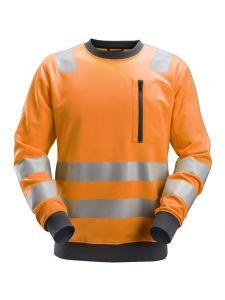Snickers 8037 AllroundWork, High-Vis Sweatshirt, Class 2/3
