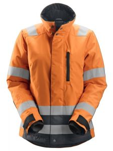 Snickers 1137 AllroundWork, Women's High-Vis 37.5® Insulating Jacket, Class 2/3 - High Vis Orange