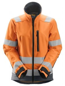 Snickers 1237 AllroundWork, Women's High-Vis Softshell Jacket, Class 2/3 - High Vis Orange