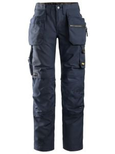 Snickers 6701 AllroundWork, Women's Work Trousers+ with Holster Pockets - Navy