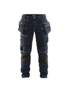 Blåkläder 1990-1141 Work Trousers Denim Stretch - Navy Blue