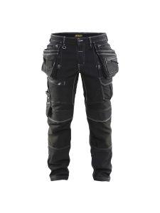 Blåkläder 1990-1141 Work Trousers Denim Stretch - Black