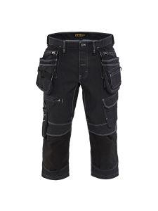 Blåkläder 1991-1141 Pirate Shorts Stretch Denim - Black
