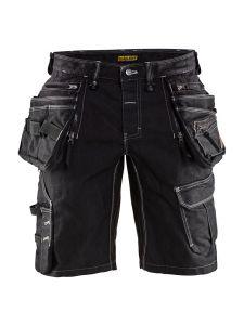 Blåkläder 1992-1141 Craftsman Shorts Stretch Denim - Black
