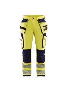 High Vis Trouser 4-Way Stretch 1997 High Vis Geel/Marine - Blåkläder