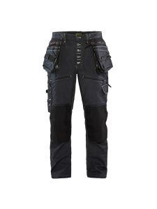 Blåkläder 1999-1141 Work Trousers Baggy Denim Stretch - Navy Blue