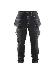 Blåkläder 1999-1141 Work Trousers Baggy Denim Stretch - Black