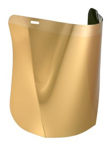 Hellberg SAFE Polycarbonate Gold-plated Visor
