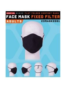 Herock Face Mask Fixed Filter - Black (washable)