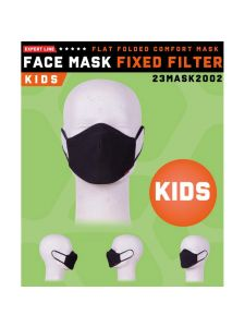 Herock Face Mask Fixed Filter for Kids - Black (washable)