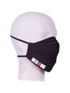 Herock Face Mask Fixed Filter & Herock Logo - Black (washable)