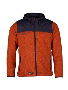 Bores Fleece Jacket Orange/Dark Grey - Herock