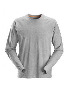 Snickers 2410 AllroundWork, T-Shirt l/s - Grey Melange