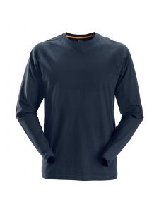 Snickers 2410 AllroundWork, T-Shirt l/s - Navy