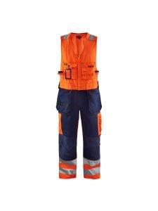 High Vis Sleeveless Overall 2653 High Vis Oranje/Marine - Blåkläder