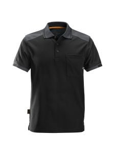 Snickers 2701 AllroundWork, 37.5® Tech. Reinforced s/s Polo Shirt - Black/Steel Grey