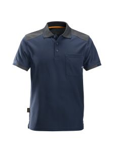 Snickers 2701 AllroundWork, 37.5® Tech. Reinforced s/s Polo Shirt - Navy/ Steel Grey