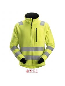 Snickers 2860 ProtectWork FleeceJacket, Class 3 - High Vis Yellow