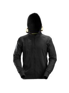 Snickers 2880 Logo Full Zip Hoodie - Black
