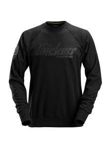 Snickers 2882 Logo Sweatshirt Crewneck - Black