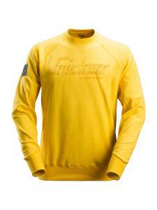 Snickers 2882 Logo Sweatshirt Crewneck - Yellow