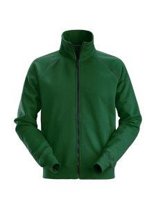 Snickers 2886 AllroundWork, Full Zip Sweatshirt Jacket - Forest Green