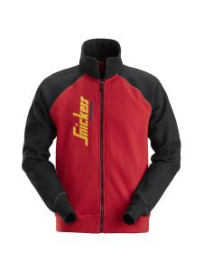 Snickers 2887 Logo Full Zip Jacket - Chili Red