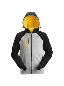 Snickers 2888 AllroundWork, Logo Full Zip Hoodie - Grey