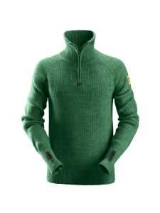 Snickers 2905 ½-Zip Wool Sweater - Forest Green