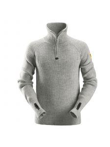 Snickers 2905 ½-Zip Wool Sweater - Grey Melange