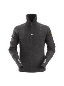 Snickers 2905 ½-Zip Wool Sweater - Antracite Melange
