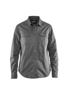 Ladies Twill Shirt 3208 Grijs - Blåkläder