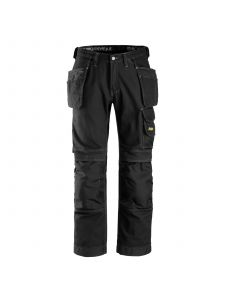 Snickers 3215 Craftsmen, Work Trousers with Holster Pockets Cotton - Black
