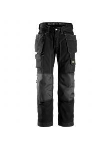 Snickers 3223 Floorlayer Work Trousers with Holster Pockets Rip Stop - Black