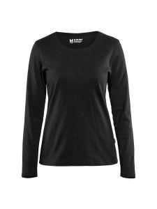 Blåkläder 3301-1032 Women's T-shirt l/s - Black