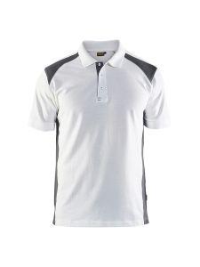 Blåkläder 3324-1050 Pique Polo Shirt - White/Dark Grey