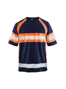 UV Polo Shirt High Vis 3337 Marineblauw/Oranje - Blåkläder