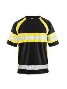 UV Polo Shirt High Vis 3337 Zwart/High Vis Geel - Blåkläder