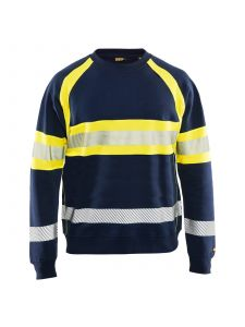 High Vis Sweater 3359 Marine/High Vis Geel - Blåkläder
