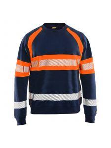 High Vis Sweater 3359 Marineblauw/Oranje - Blåkläder
