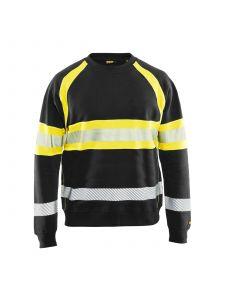 High Vis Sweater 3359 Zwart/High Vis Geel - Blåkläder
