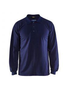 Flame Retardant Pique Long Sleeves 3374 Marineblauw - Blåkläder