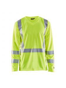 UV T-Shirt High Vis Long Sleeve 3383 High Vis Geel - Blåkläder