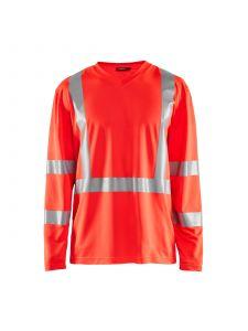 UV T-Shirt High Vis Long Sleeve 3383 High Vis Rood - Blåkläder