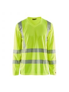UV T-Shirt High Vis Long Sleeve 3385 High Vis Geel - Blåkläder